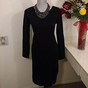 NWOT Nina Leonard black dress size small